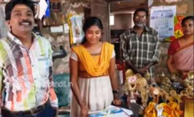 latest-news-santhosh-pandit-offers-financial-support-to-dhyuthi