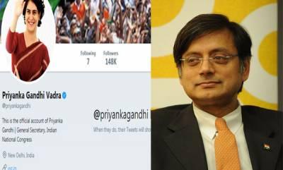 india-new-superstar-shashi-tharoor-on-priyanka-gandhis-twitter-entry