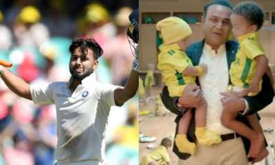 sports-news-rishabh-pant-comes-up-with-a-hilarious-tweet-on-virender-sehwags-babysitting-tv-commercial