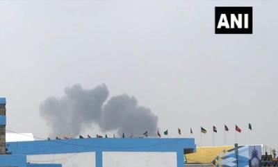 india-two-suryakiran-jets-crash-during-rehearsal-in-bengaluru