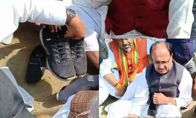 latest-news-bjp-leaders-asked-to-remove-shoes-by-soldiers-angry-relatives