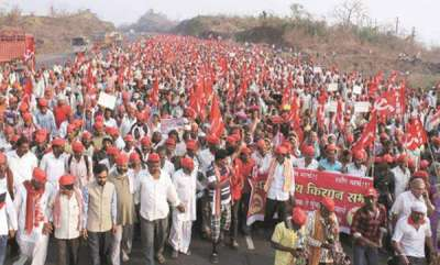 latest-news-police-interference-farmers-rally-to-bombay-resist