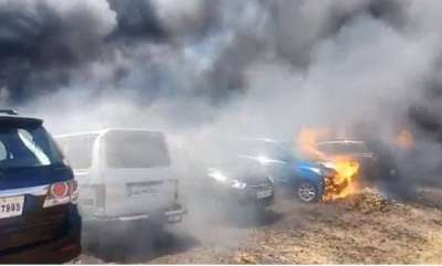 india-fire-erupts-at-parking-lot-of-aero-india-show-300-cars-gutted