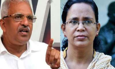 kerala-kk-rama-booked-for-killer-remarks-against-p-jayarajan