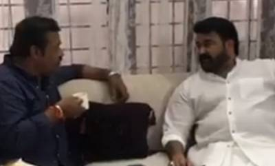 latest-news-sureshgopi-meet-with-mohanlal