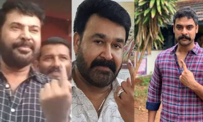 entertainment-mollywood-stars-cast-votes-in-kerala-polls
