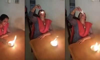 latest-news-women-eating-fire-viral-video