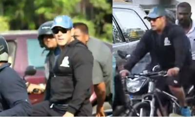 latest-news-salman-khan-cycling-on-mumbai-road
