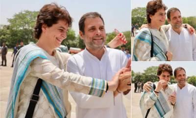 latest-news-rahul-gandhi-priyanka-share-light-moment-at-kanpur-airport