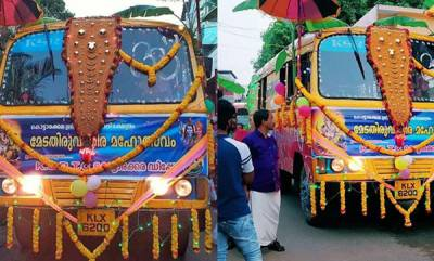 latest-news-ksrtc-decorated-as-elephant-in-kottarakara