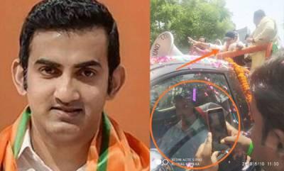 india-gautam-gambhir-using-duplicate-for-campaigning-claim-aap-tweets-photo