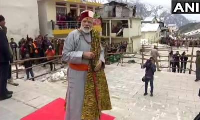 india-pm-offers-prayers-at-kedarnath-to-visit-badrinath-sunday