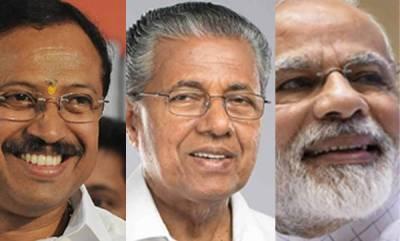 latest-news-pinarayi-viyajan-congratulate-narendra-modi-and-v-muraleedharan