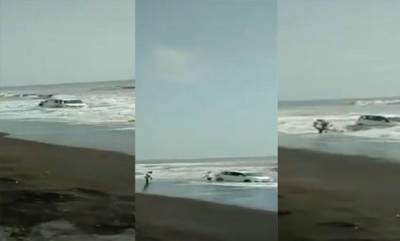 latest-news-car-in-sea-viral-video