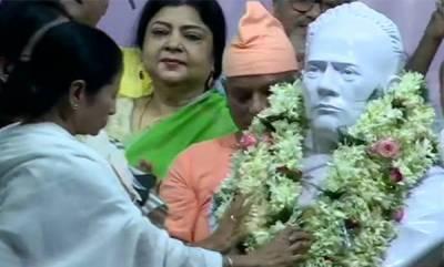 latest-news-mamata-banerjee-unveils-new-bust-of-vidyasagar-month-after-vandalism