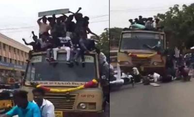 latest-news-chennai-school-students-climb-fall-off-moving-bus-while-celebrating-bus-day