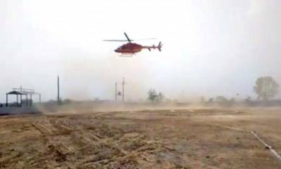 latest-news-alwar-mp-has-close-shave-as-chopper-loses-balance