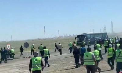 latest-news-workers-protest-at-kazakh-oil-field