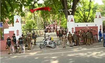 latest-news-sfi-fraternity-movement-conflict-heavy-security-at-trivandrum-campuses