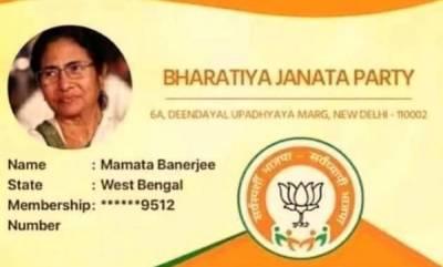 latest-news-mamata-banerjees-photo-surfaces-on-bjp-membership-card