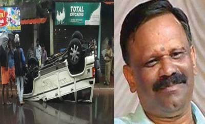 kerala-rss-leader-valsan-thillankeris-car-meets-with-accident