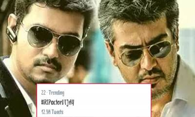 entertainment-ripactorvijay-trends-in-twitter-after-ajith-and-vijay-fans-breaks-into-fight