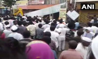 latest-news-roof-of-bank-collapased-in-maharashtra
