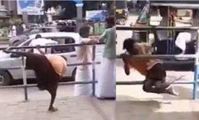 latest-news-drunk-man-climbs-fence-video