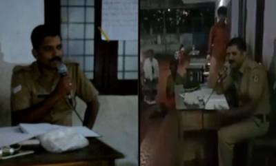 latest-news-police-officer-sings-folk-song-in-relief-camp