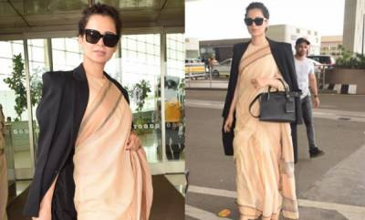 latest-news-kangana-ranaut-wears-a-rs-600-saree-to-jaipur