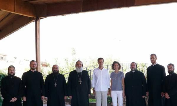 Bashar Assad,  Holy Cross Monastery