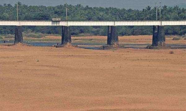 Kerala Flood, Rivers dry up