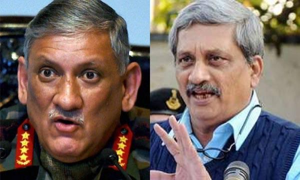Defence minister, Manohar Parrikar, Bipin Rawat