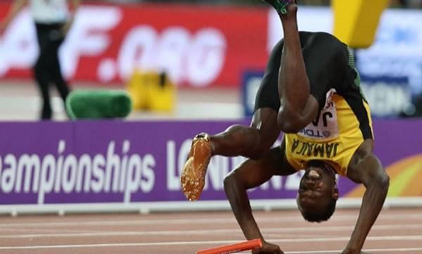 World Athletic Championship, Bolt,  Agony