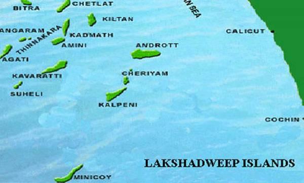 Lakshadweep Islands On India Map