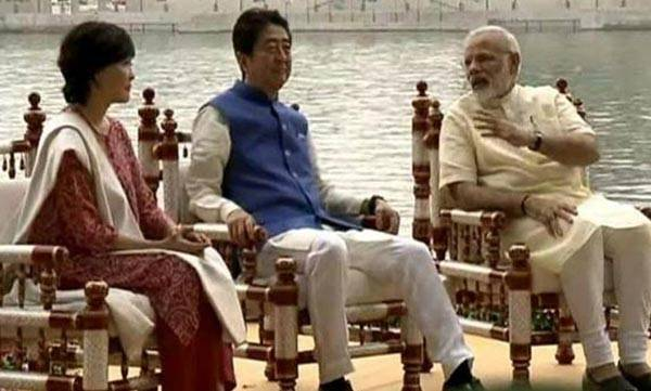 Sabarmati Ashram, Narendra Modi, Shinzo Abe