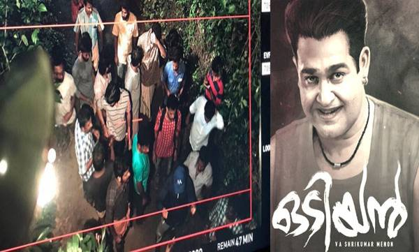 Odiyan, Climax shoot
