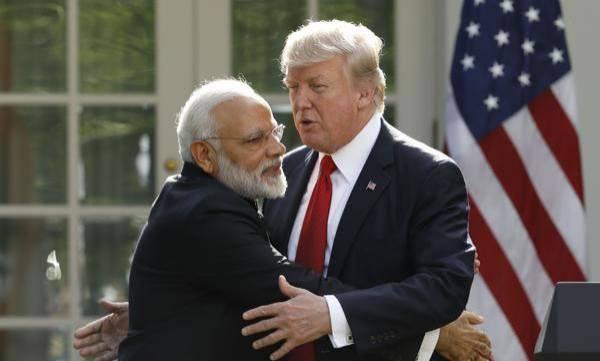 India, US, Trump,, White House