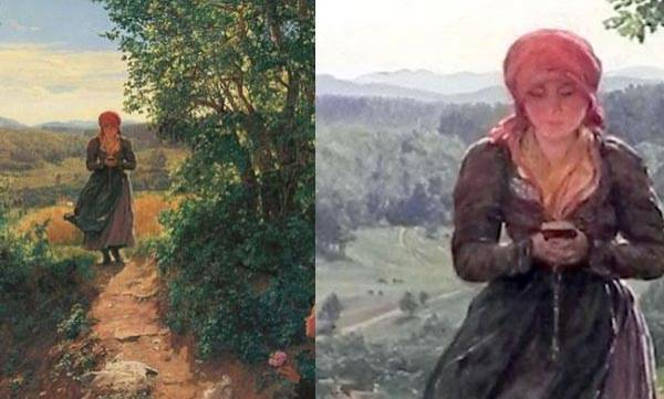 mobile-this-painting-from-1860-shows-woman-texting-on-her-smartphone
