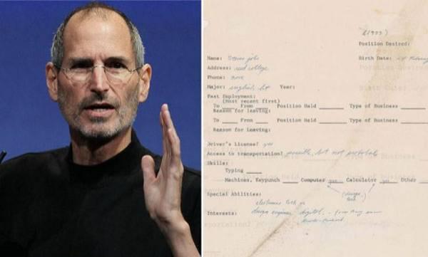 tech-news-steve-jobs-apple-founders-1973-job-application-going-on-sale