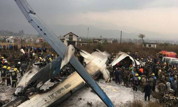 bangla plane crash, Nepal