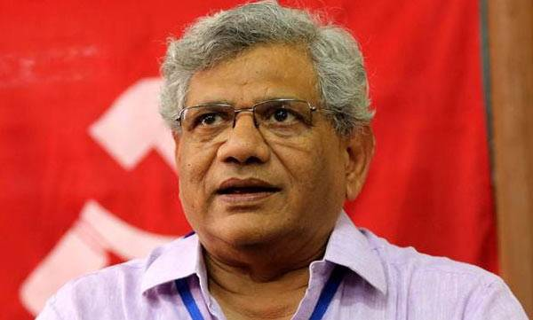 latest-news-sitharam-yechuri-was-opposed-by-four-members-in-cpm-cc