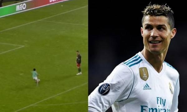 Christiano Ronaldo Jr,  Striking shot