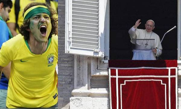 Argentine pope,  Brazil,  World Cup exit
