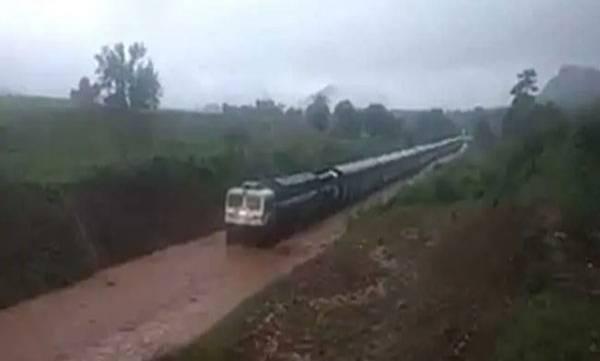 Train Gets Stuck, Waterlogged Rail Track,  Odisha