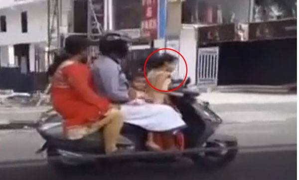 Minor ride, Scooter, Viral video
