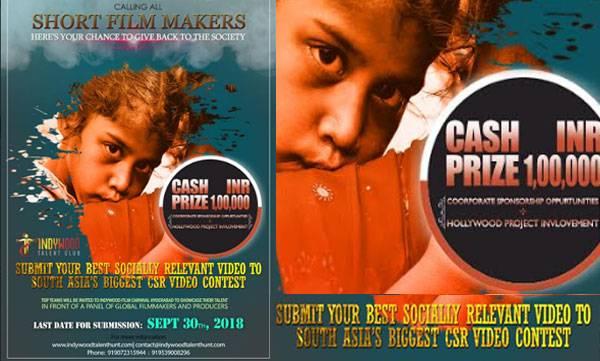 Indywood Talent Club ,  global CSR video, CSR video contest