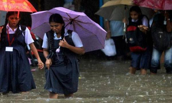 Heavy rain, Holiday,  Educational Institutions
