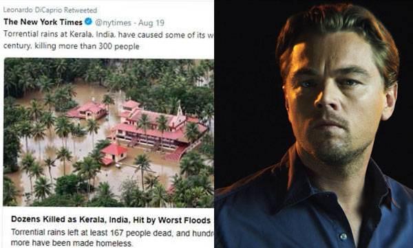 Leonardo Di Caprio, New York times, kerala floods