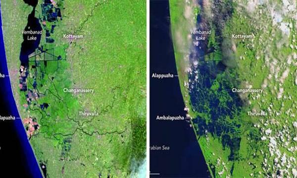 NASA, Kerala flood
